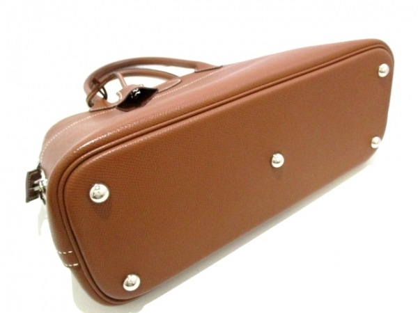 HERMES(エルメス) ハンドバッグ ボリード31 コニャック シルバー金具 4