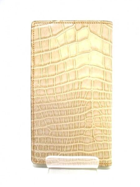 CIVINILE(チビナイル) 手帳美品  ベージュ クロコダイル 2