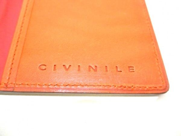 CIVINILE(チビナイル) 手帳美品  ベージュ クロコダイル 4