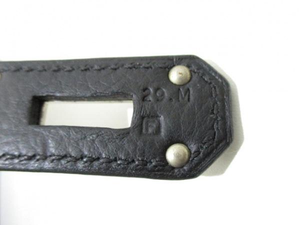 HERMES(エルメス) ハンドバッグ オータクロア40 黒 シルバー金具 4