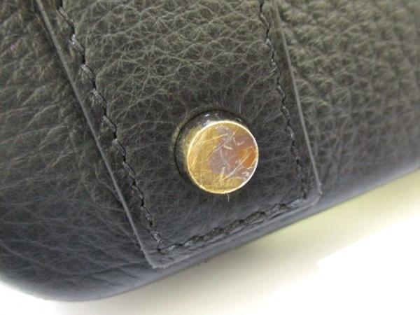 HERMES(エルメス) ハンドバッグ オータクロア40 黒 シルバー金具 7