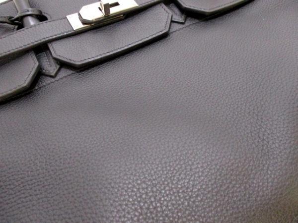 HERMES(エルメス) ハンドバッグ オータクロア40 黒 シルバー金具 8