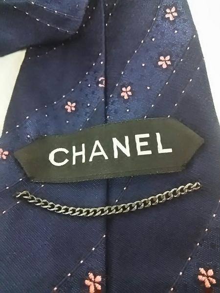 CHANEL(シャネル) ネクタイ メンズ ダークネイビー×ピンク 3