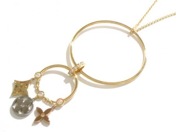 ルイヴィトン ネックレス美品  K18スリーカラー×ダイヤモンド 0