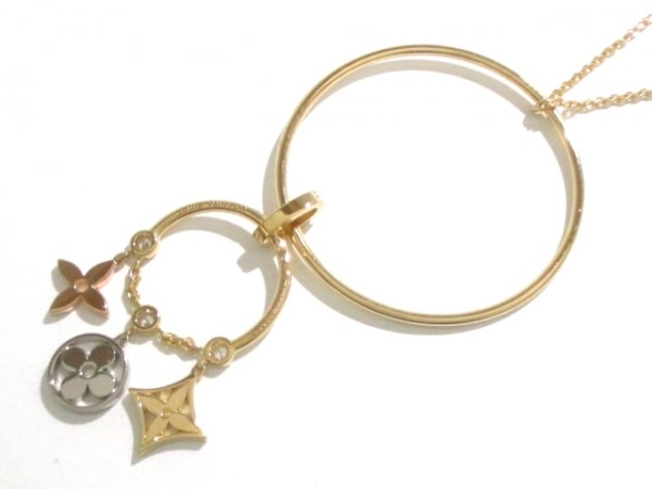 ルイヴィトン ネックレス美品  K18スリーカラー×ダイヤモンド 3