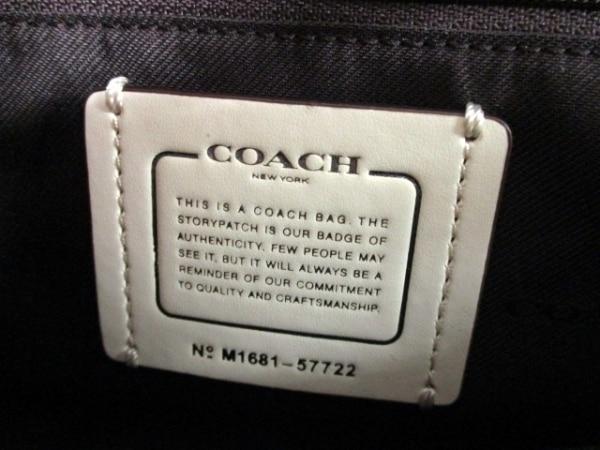 コーチ ハンドバッグ美品  マーサーサッチェル24 57722 アイボリー 6