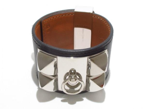 エルメス ブレスレット美品  コリエドシアン 黒×シルバー サイズ:S 0