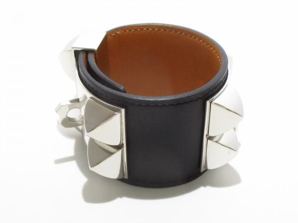 エルメス ブレスレット美品  コリエドシアン 黒×シルバー サイズ:S 2