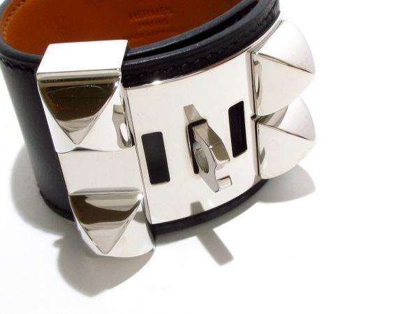 エルメス ブレスレット美品  コリエドシアン 黒×シルバー サイズ:S 4