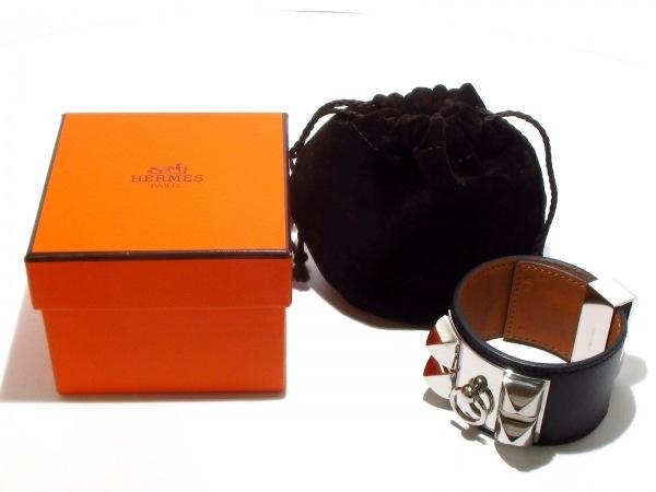 エルメス ブレスレット美品  コリエドシアン 黒×シルバー サイズ:S 7