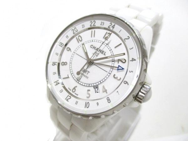 シャネル 腕時計 J12 GMT H3103 メンズ ホワイトセラミック/38mm 白 0