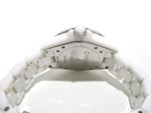 シャネル 腕時計 J12 GMT H3103 メンズ ホワイトセラミック/38mm 白 3