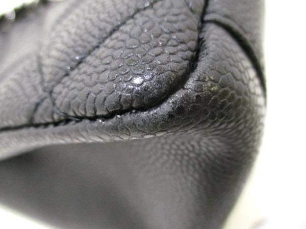 シャネル トートバッグ マトラッセ A50995 黒 キャビアスキン 8