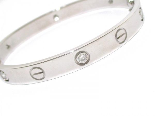 カルティエ バングル美品  ラブブレスハーフダイヤ B6014016 6