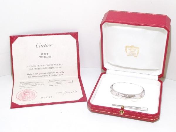 カルティエ バングル美品  ラブブレスハーフダイヤ B6014016 8