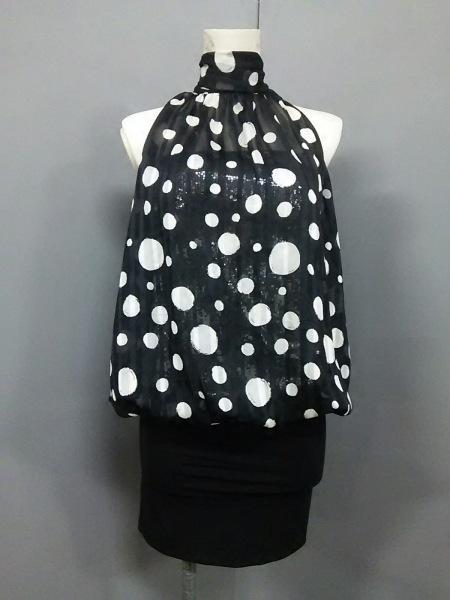ジーンマクレーン ドレス サイズ9 M レディース美品  黒×白 2