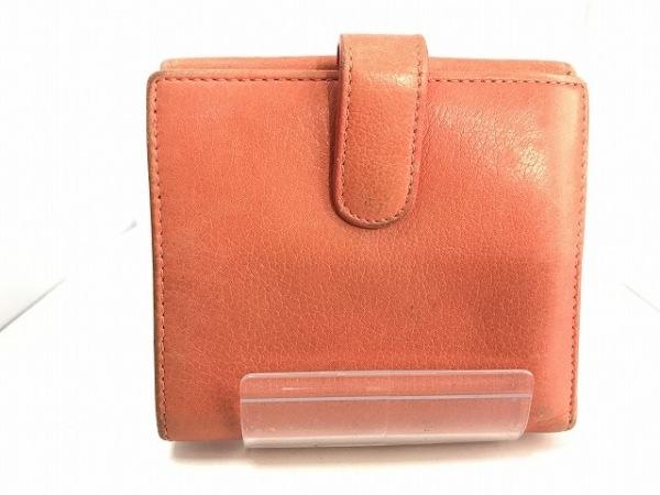 CHANEL(シャネル) Wホック財布 カメリア ピンク 型押し加工 レザー 2