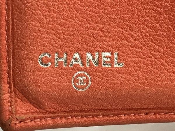 CHANEL(シャネル) Wホック財布 カメリア ピンク 型押し加工 レザー 5