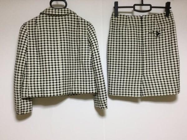 バナナリパブリック スカートスーツ レディース美品  アイボリー×黒 2