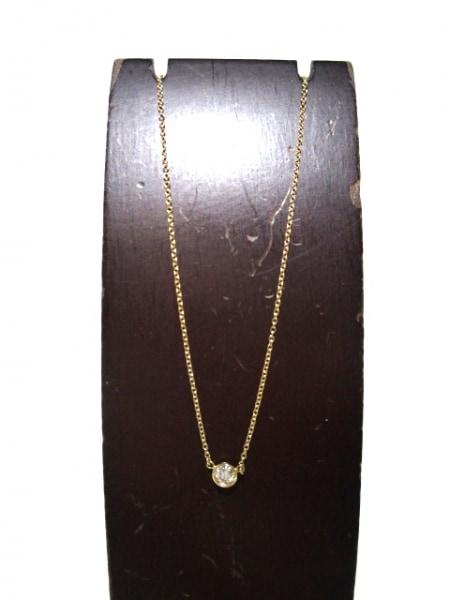 ティファニー ネックレス美品  バイザヤード K18YG×ダイヤモンド 2