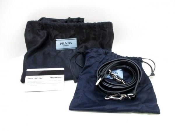 PRADA(プラダ) ハンドバッグ インサイドバッグ 1BB010 黒×シルバー 9