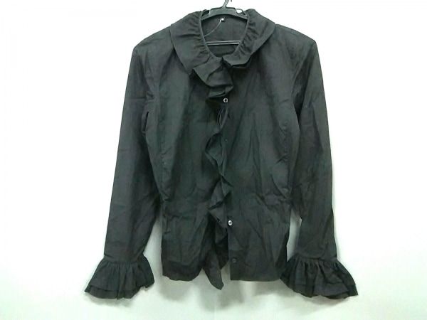 グッチ 長袖シャツブラウス サイズ40 M レディース美品  黒 フリル 0