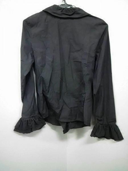 グッチ 長袖シャツブラウス サイズ40 M レディース美品  黒 フリル 2