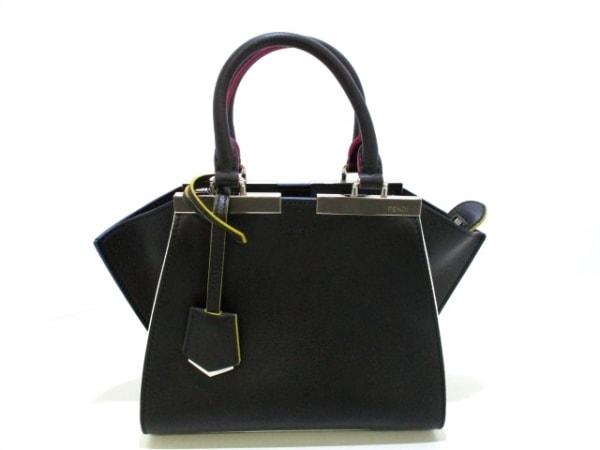 フェンディ ハンドバッグ美品  プチトロワジュール 8BH333-5C3 黒 0
