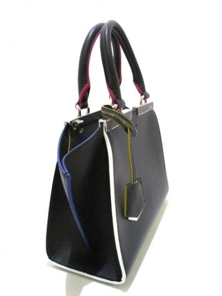 フェンディ ハンドバッグ美品  プチトロワジュール 8BH333-5C3 黒 2