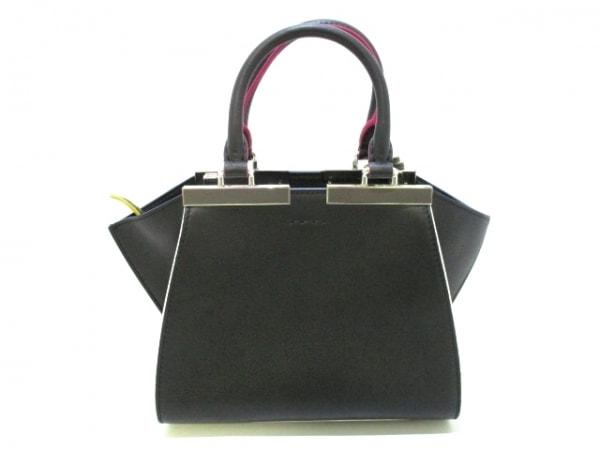 フェンディ ハンドバッグ美品  プチトロワジュール 8BH333-5C3 黒 3