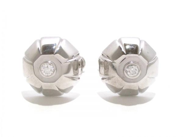 ブルガリ カフス美品  K18WG×ダイヤモンド 2Pダイヤ/1P約0.1ct 0
