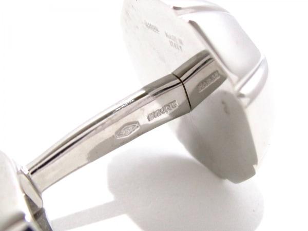 ブルガリ カフス美品  K18WG×ダイヤモンド 2Pダイヤ/1P約0.1ct 4