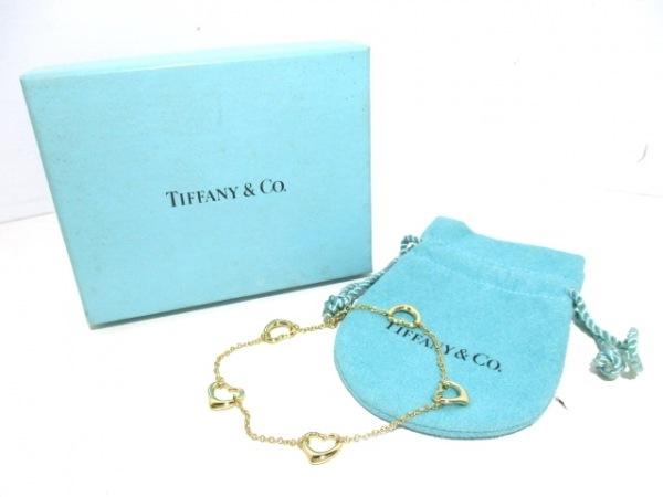 TIFFANY&Co.(ティファニー) ブレスレット美品  オープンハート K18YG 6