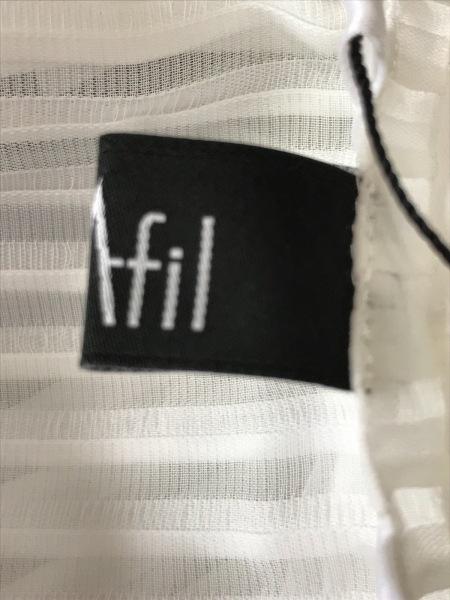 M・Fil(エムフィル) ノースリーブカットソー レディース新品同様  白 4