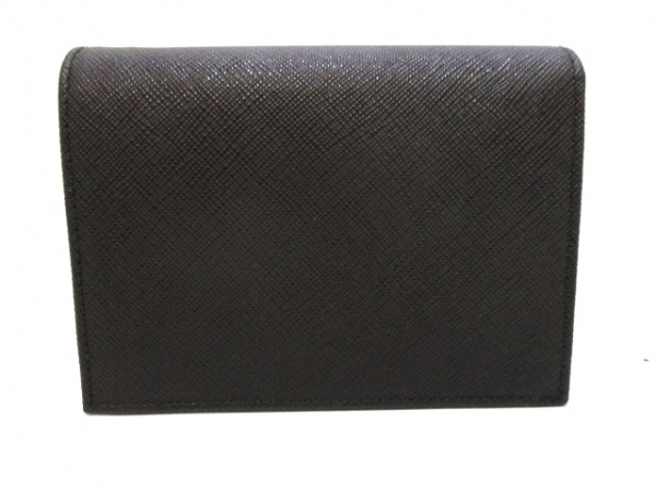 PRADA(プラダ) 2つ折り財布美品  - 1MV668 黒 レザー 2