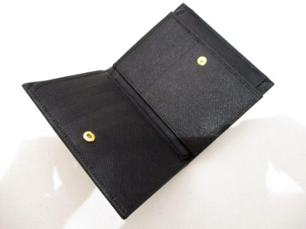 PRADA(プラダ) 2つ折り財布美品  - 1MV668 黒 レザー 3