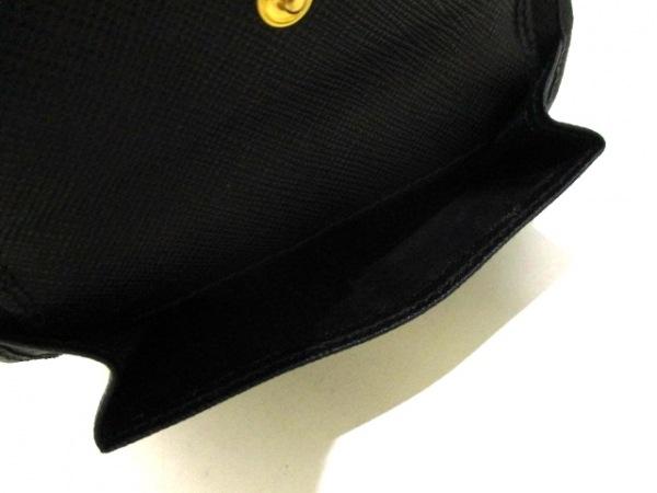 PRADA(プラダ) 2つ折り財布美品  - 1MV668 黒 レザー 4