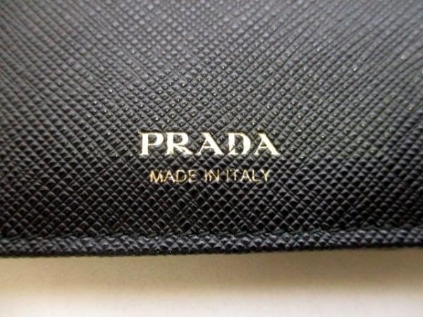 PRADA(プラダ) 2つ折り財布美品  - 1MV668 黒 レザー 5