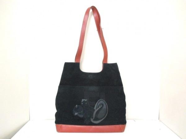 フェンディ ショルダーバッグ - 黒×ブラウン リス ヌバック×レザー 0