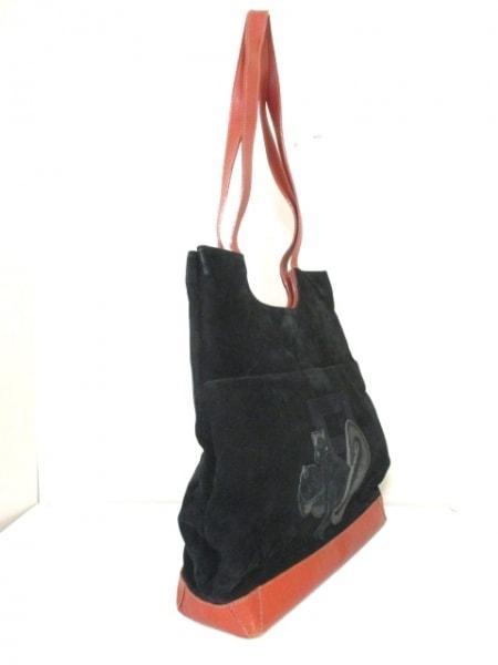 フェンディ ショルダーバッグ - 黒×ブラウン リス ヌバック×レザー 2