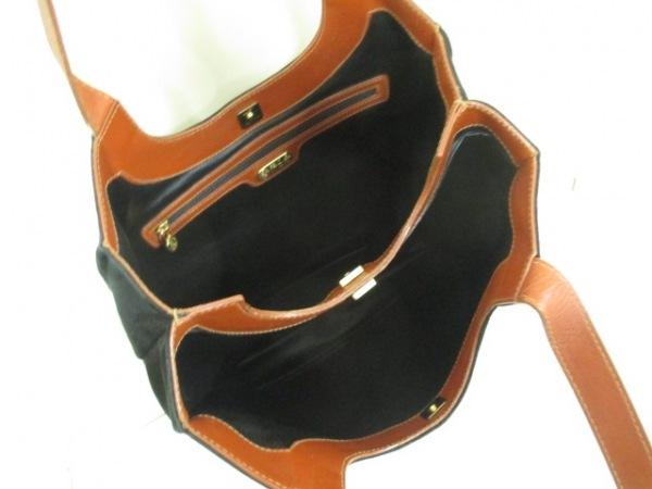 フェンディ ショルダーバッグ - 黒×ブラウン リス ヌバック×レザー 5