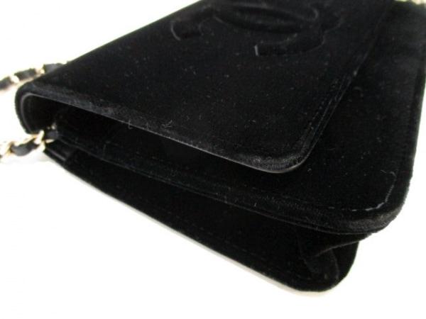 CHANEL(シャネル) 財布 マトラッセ A48654 黒 ベロア 8
