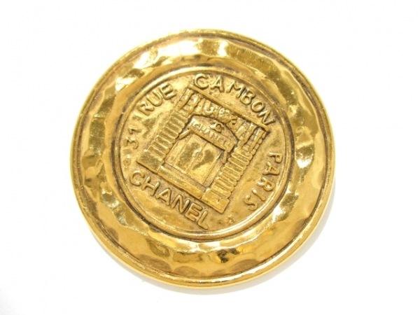CHANEL(シャネル) ブローチ美品  金属素材 ゴールド 0