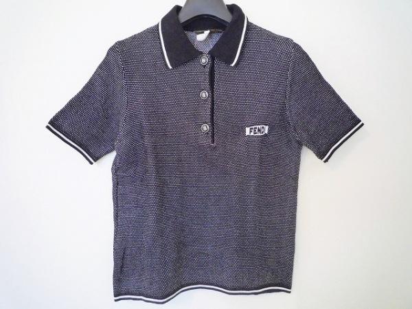 FENDI(フェンディ) 半袖ポロシャツ サイズ38 S レディース 黒×白 0
