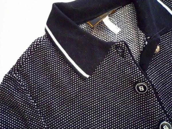FENDI(フェンディ) 半袖ポロシャツ サイズ38 S レディース 黒×白 5