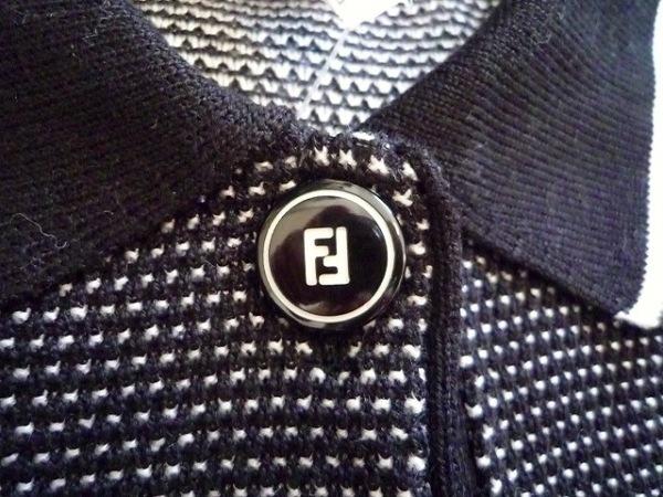 FENDI(フェンディ) 半袖ポロシャツ サイズ38 S レディース 黒×白 8