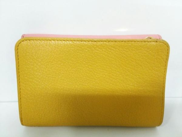 ミュウミュウ 3つ折り財布美品  - 5ML225 ピンク×イエロー リボン 2