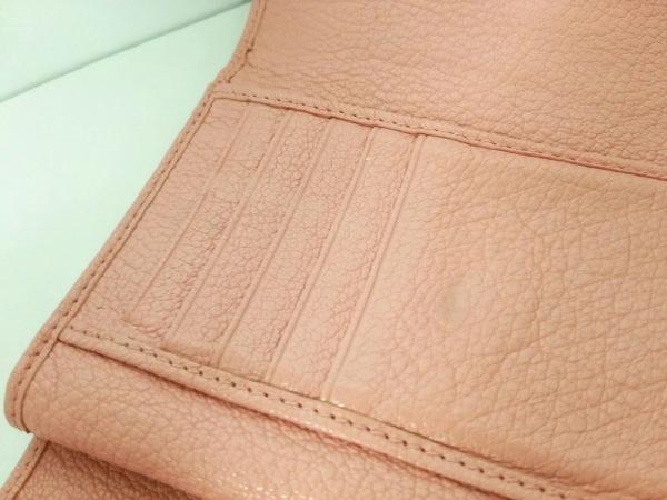 ミュウミュウ 3つ折り財布美品  - 5ML225 ピンク×イエロー リボン 6