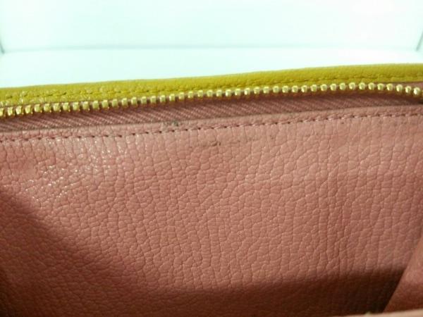 ミュウミュウ 3つ折り財布美品  - 5ML225 ピンク×イエロー リボン 7