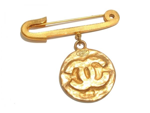 CHANEL(シャネル) ブローチ 金属素材 ゴールド ココマーク 2